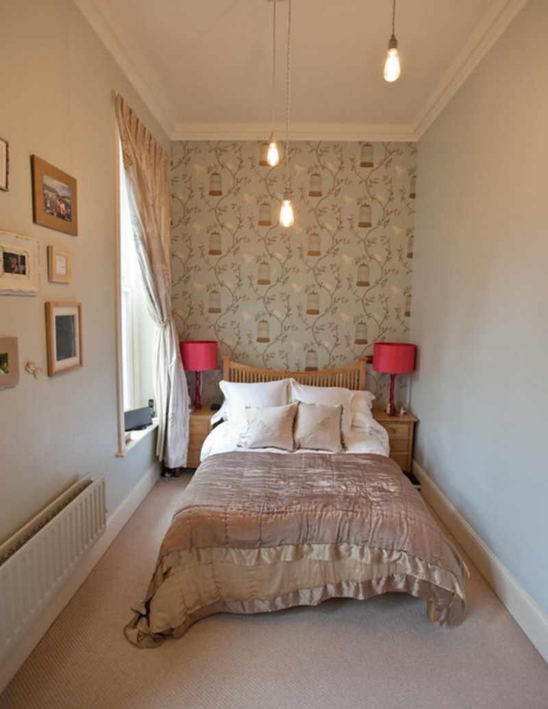 идея красивого декора спальни в хрущевке