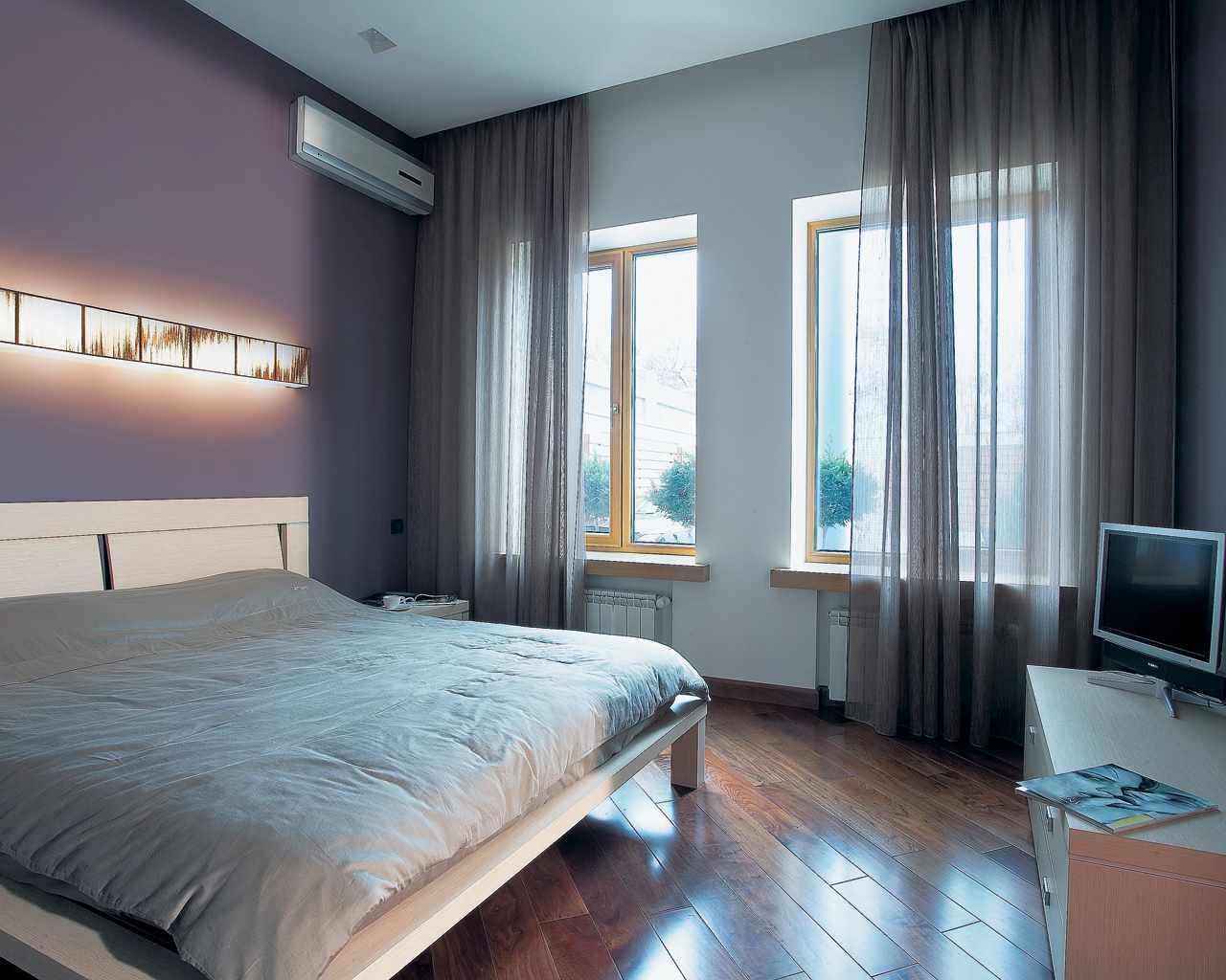 вариант необычного дизайна спальни