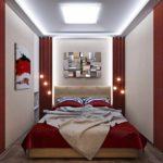 пример светлого дизайна спальни в хрущевке фото