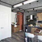 идея светлого декора кухни гостиной 16 кв.м фото