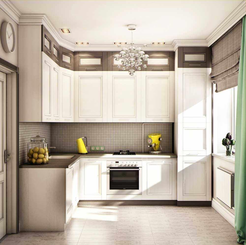 идея светлого интерьера кухни