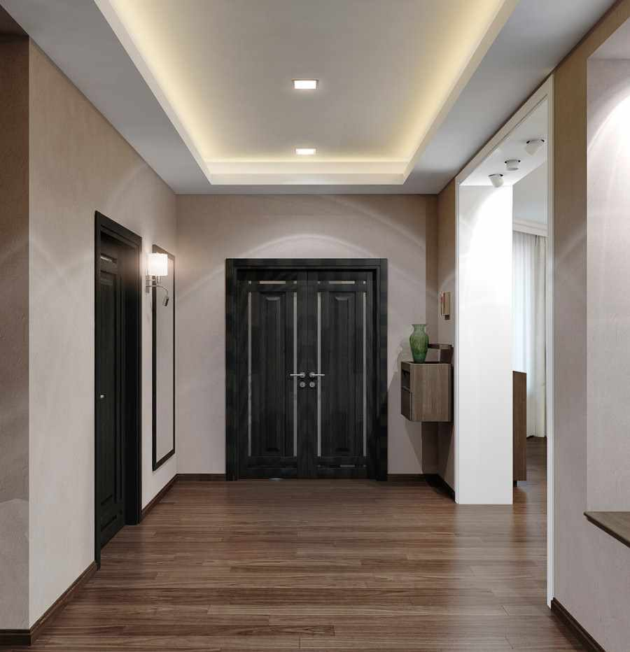 идея яркого стиля прихожей в частном доме
