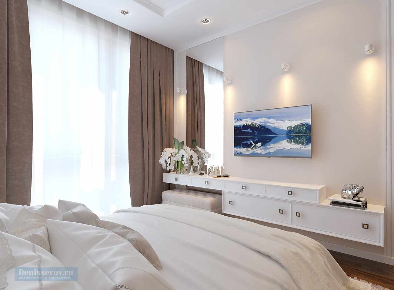 идея необычного декора спальни