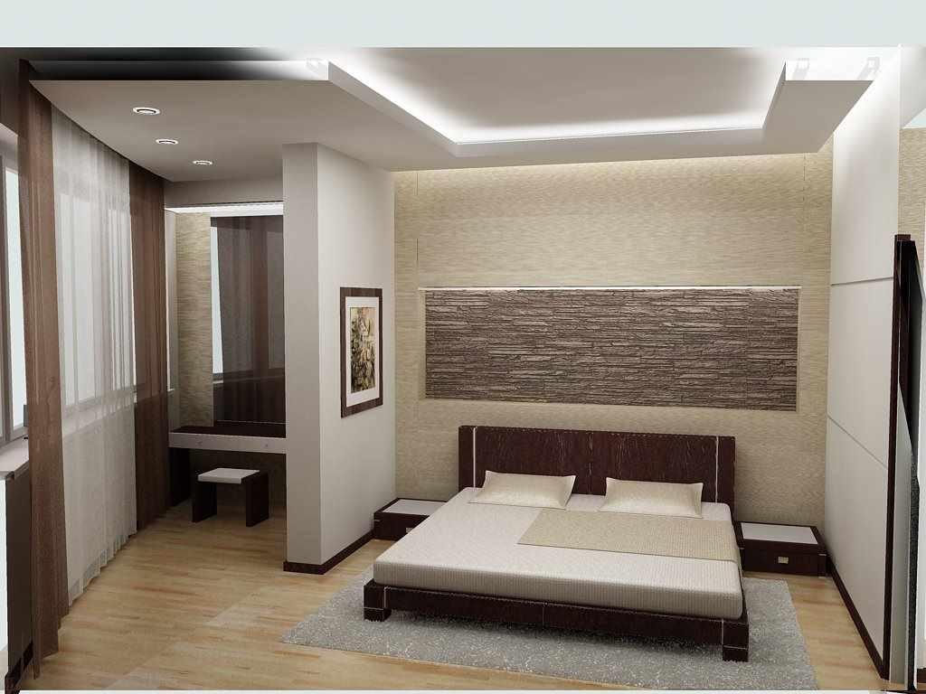 пример светлого дизайна спальни в хрущевке