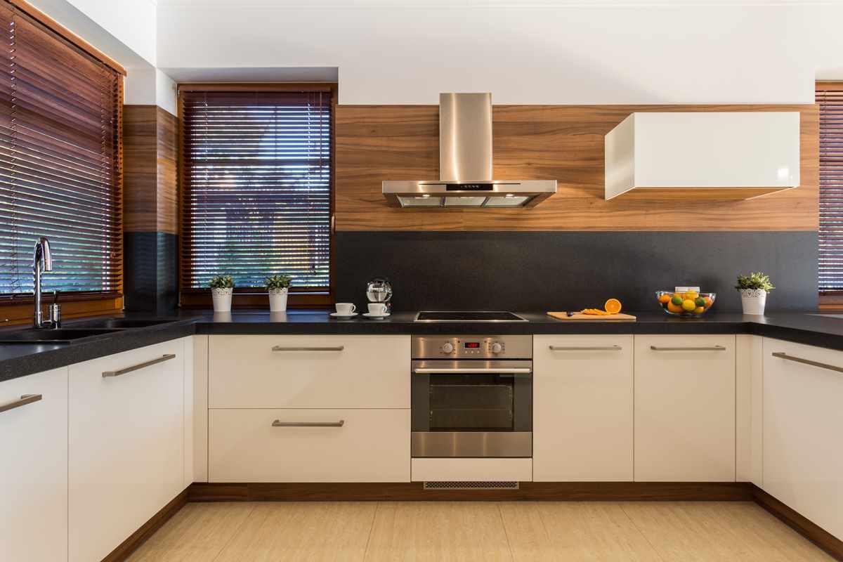 идея яркого интерьера кухни