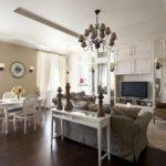 пример красивого стиля прованс в гостиной картинка