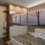 вариант светлого интерьера спальной комнаты в хрущевке картинка