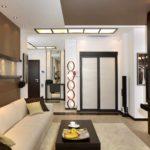 идея применения красивого дизайна гостиной комнаты в стиле минимализм картинка