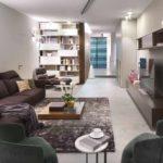 вариант применения необычного интерьера гостиной комнаты в стиле минимализм фото