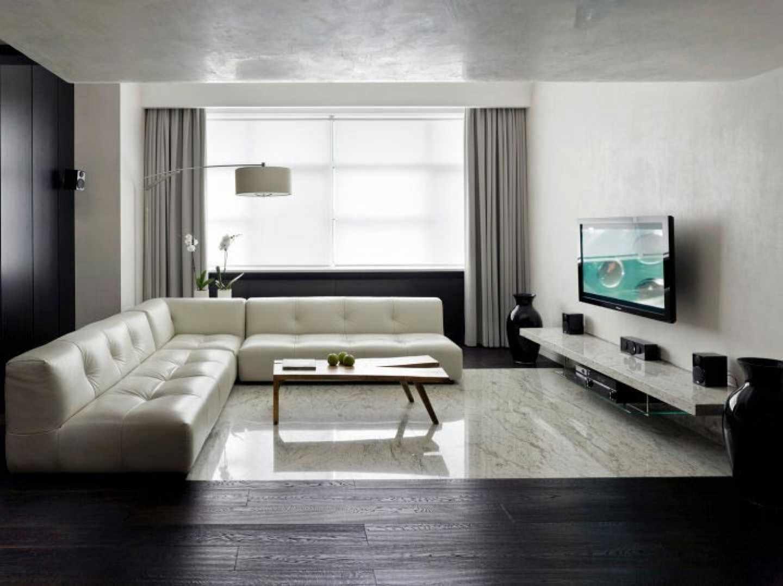 пример использования яркого дизайна гостиной комнаты в стиле минимализм