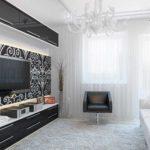 вариант необычного декора гостиной комнаты 17 кв.м картинка
