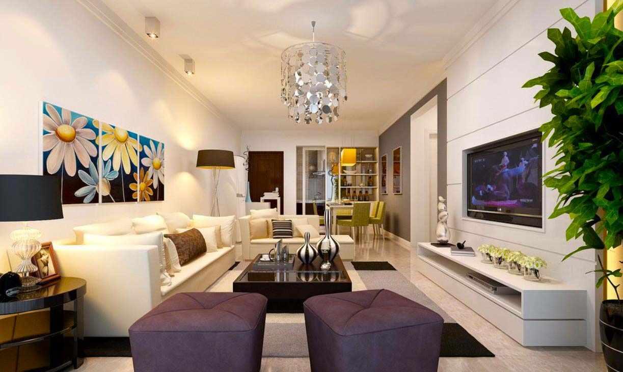 идея светлого декора гостиной комнаты 2018