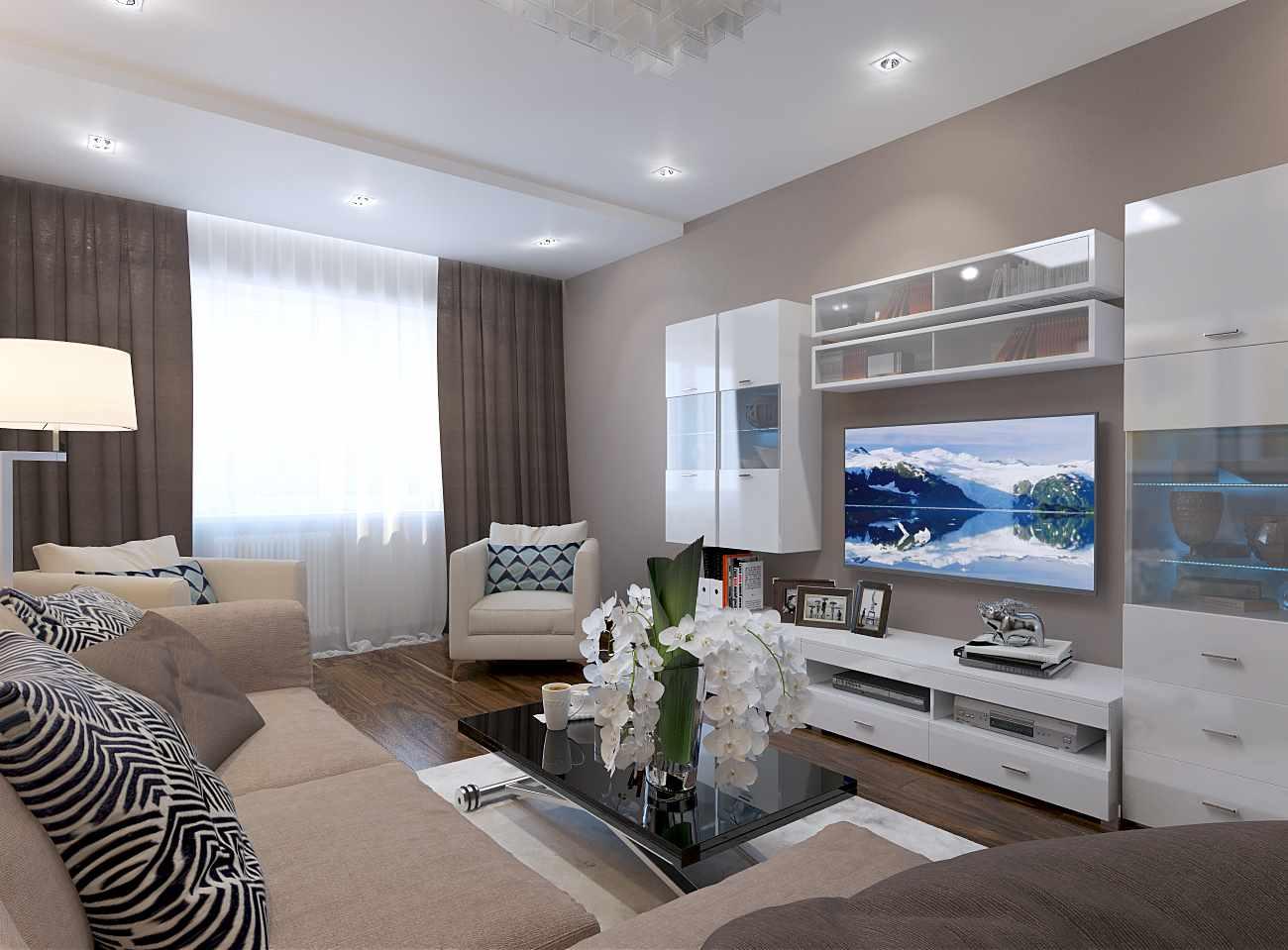 идея необычного стиля гостиной комнаты 17 кв.м