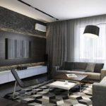 идея яркого декора гостиной комнаты 25 кв.м фото