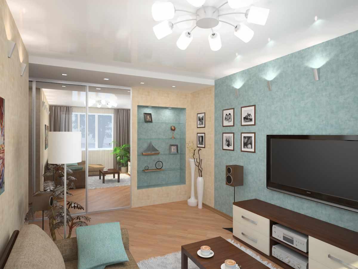 идея необычного стиля гостиной комнаты 16 кв.м