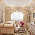 идея необычного декора гостиной комнаты 17 кв.м фото