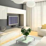 идея яркого декора гостиной комнаты 25 кв.м картинка