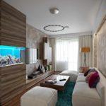 вариант красивого стиля гостиной комнаты 17 кв.м картинка
