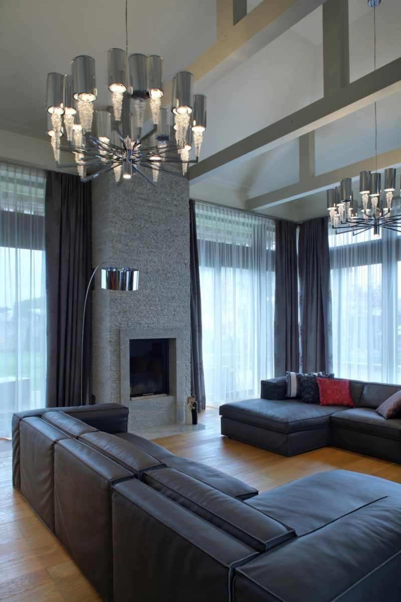 вариант светлого декора гостиной комнаты 16 кв.м