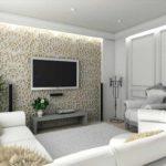 пример светлого стиля гостиной комнаты 17 кв.м картинка