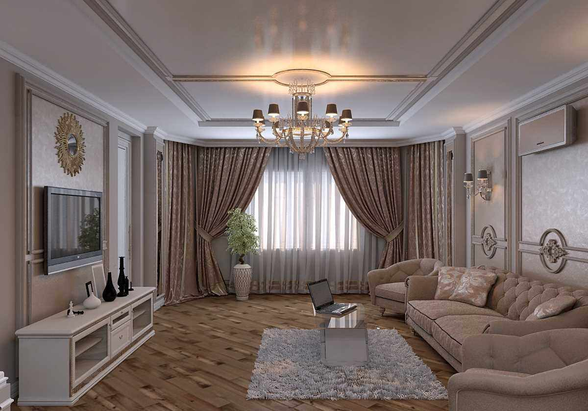 вариант яркого дизайна гостиной комнаты 19-20 кв.м