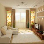 вариант необычного интерьера гостиной комнаты 17 кв.м картинка