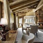 идея применения необычного интерьера гостиной комнаты с камином картинка