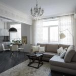 вариант применения яркого декора гостиной комнаты в стиле минимализм фото