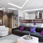 идея применения красивого интерьера гостиной комнаты в стиле минимализм картинка