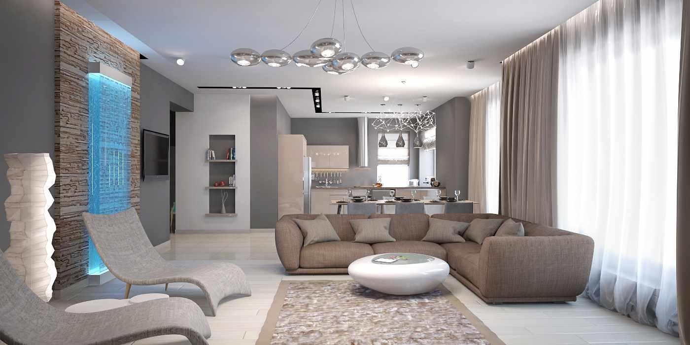идея применения необычного декора гостиной комнаты в стиле минимализм