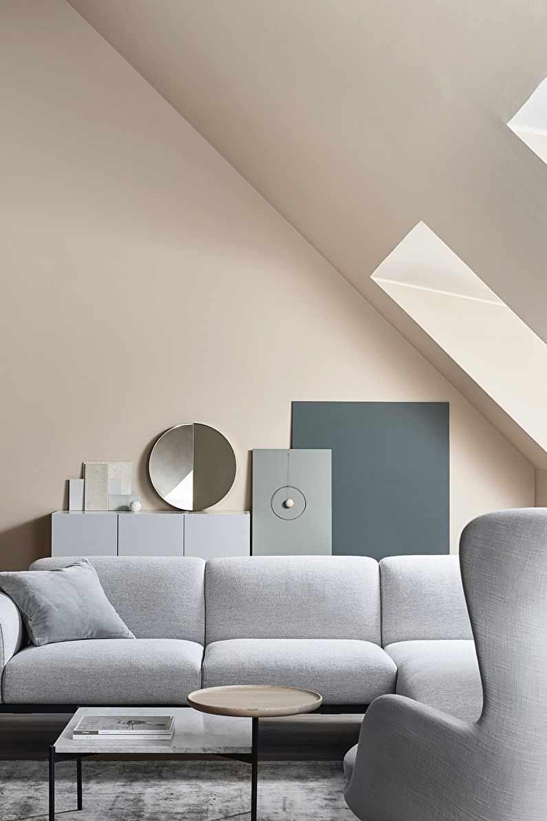 вариант применения яркого декора гостиной комнаты в стиле минимализм