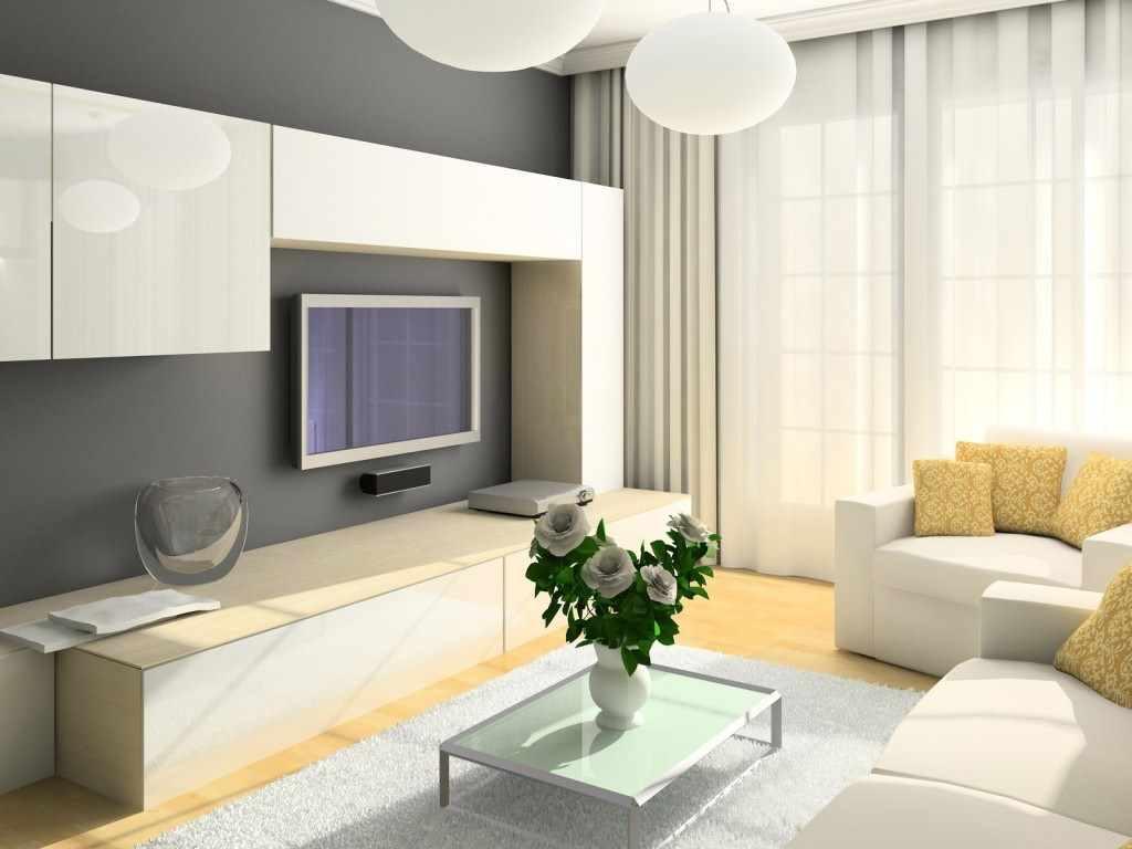 пример яркого декора гостиной комнаты 19-20 кв.м