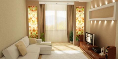 вариант светлого интерьера гостиной комнаты 16 кв.м картинка