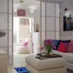 идея красивого стиля гостиной комнаты 19-20 кв.м картинка