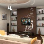 пример светлого декора гостиной комнаты 17 кв.м фото