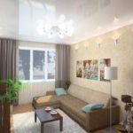 идея необычного стиля гостиной комнаты 2018 фото