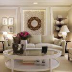 пример светлого декора гостиной комнаты 2018 фото