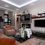 пример красивого стиля гостиной комнаты 19-20 кв.м картинка