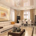 идея необычного стиля гостиной комнаты 2018 картинка