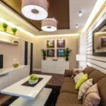 вариант красивого декора гостиной комнаты 19-20 кв.м картинка