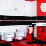 пример красивого декора ванной комнаты с облицовкой плиткой фото