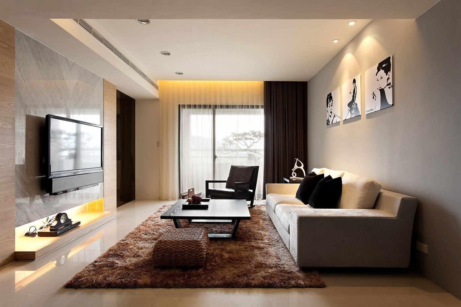 пример применения необычного дизайна гостиной комнаты в стиле минимализм
