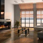 идея использования красивого интерьера гостиной комнаты с камином картинка