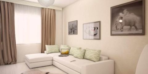 идея красивого дизайна гостиной комнаты 19-20 кв.м картинка