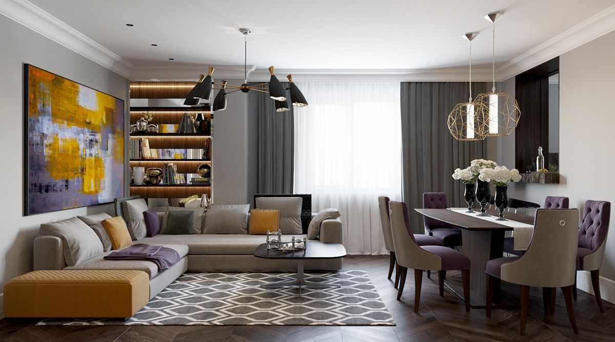 идея необычного дизайна гостиной комнаты 25 кв.м