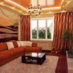 пример красивого стиля гостиной комнаты 17 кв.м фото