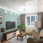 идея необычного декора гостиной комнаты 25 кв.м фото
