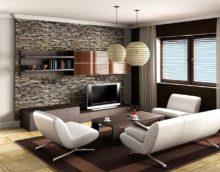 пример красивого декора гостиной комнаты 25 кв.м картинка