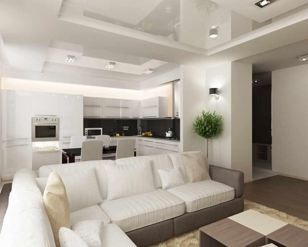 пример необычного декора гостиной комнаты 17 кв.м