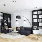 идея красивого дизайна гостиной комнаты 16 кв.м картинка